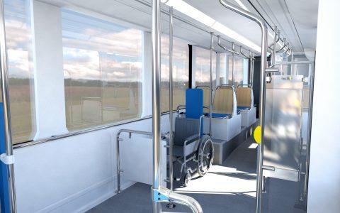 interiér nOVA tramvaj