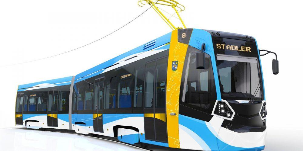 Společnost Stadler představila vizualizaci nových ostravských tramvají