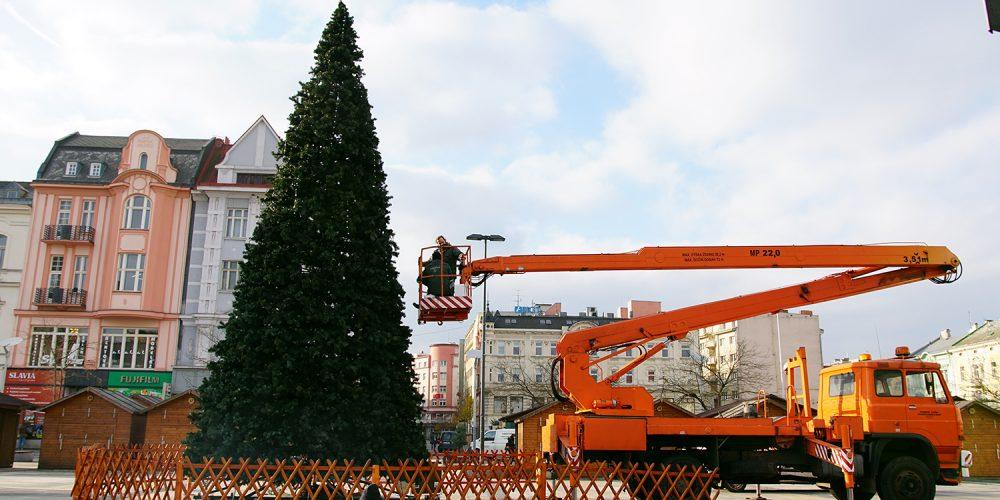 Vánoční strom na Masarykově náměstí ponese na špici hvězdu se znakem Ostravy