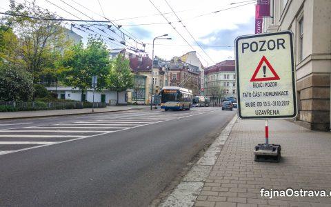 Řidiči obrňte se trpělivostí pří jízdě centrem Ostravy, začíná rekonstrukce Českobratrské ulice