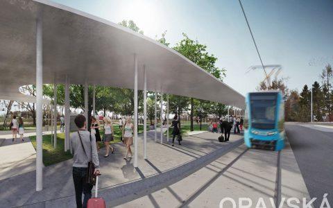 Vizualizace tramvajové trati na 7. a 8.obvod