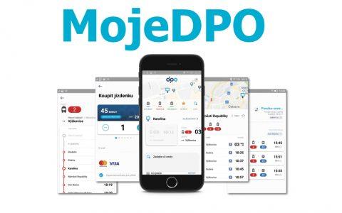 MojeDPO nová aplikace od dopravního podniku