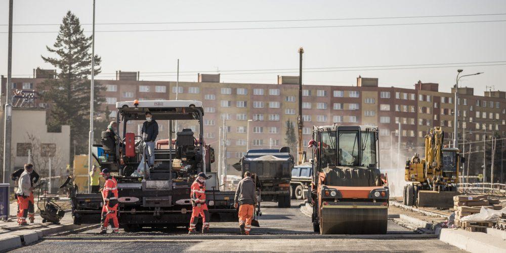 Rekonstrukce výškovických mostů míří do finální fáze, hotovo bude v polovině května
