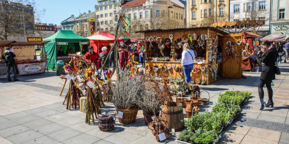 Centrum Ostravy oživil velikonoční jarmark