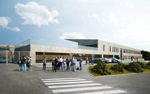 Nová budova fotbalové akademie