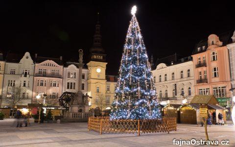 Vánoční strom - Masarykovo náměstí Ostrava