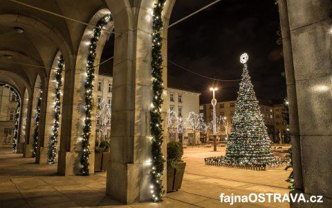 Vánoční výzdoba Nová radnice