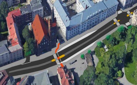 Vizualizace nové podoby Českobratrské ulice